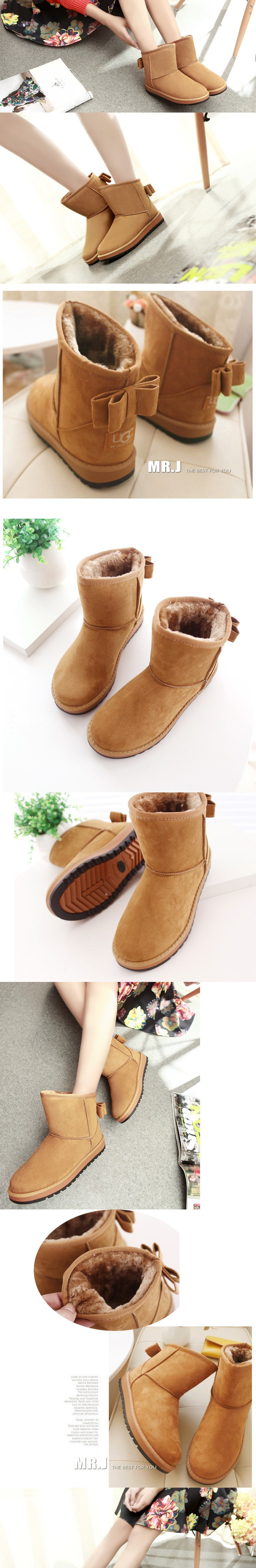 2015 Brand Women Winter Snow Boots Fashion Fur Boots high heels women Boots Shoes High Increased botas Mujer New Arrival B14 (1)