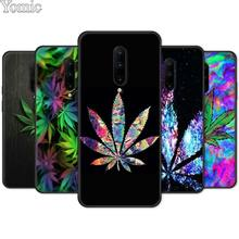 Black Case for Oneplus 7 7 Pro 6 6T 5T Soft TPU Cover Shell for Oneplus 7 7Pro Silicone Phone Case Abstractionism Art High Weed