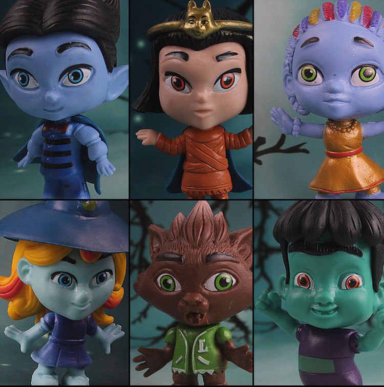 6pcs/set Monster Figures Toy Super Doll PVC Anime Action Figure Model Doll Toys Gift