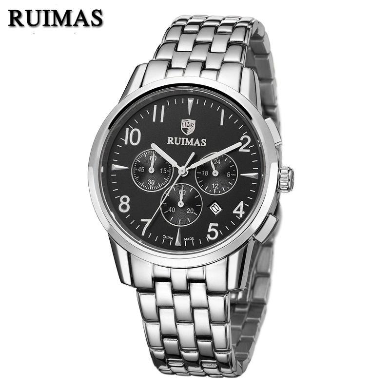 RUIMAS Luxury Quartz Men Watch Top Brand Fashion Chronograph Business Watch Relogio Masculino Army Military Wrist Watches