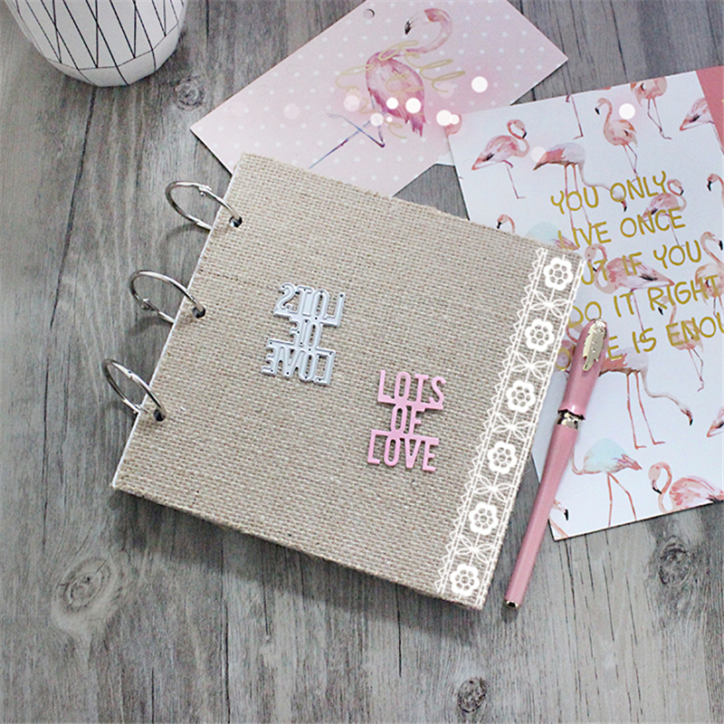 Lots of Love Metal Die Cutting Scrapbooking Embossing Dies Cut Stencils Decorative Cards DIY album Card Paper Card Maker design personalized printing red wedding invitations cards blank paper card kit laser cut lace flower convite pack of 50