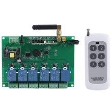 110-240V 6 канальный РЧ релейный модуль доска Управление переключатель 6-ти канальный РЧ приемный Управление; Высокая стабильность 6 канальный релейный модуль
