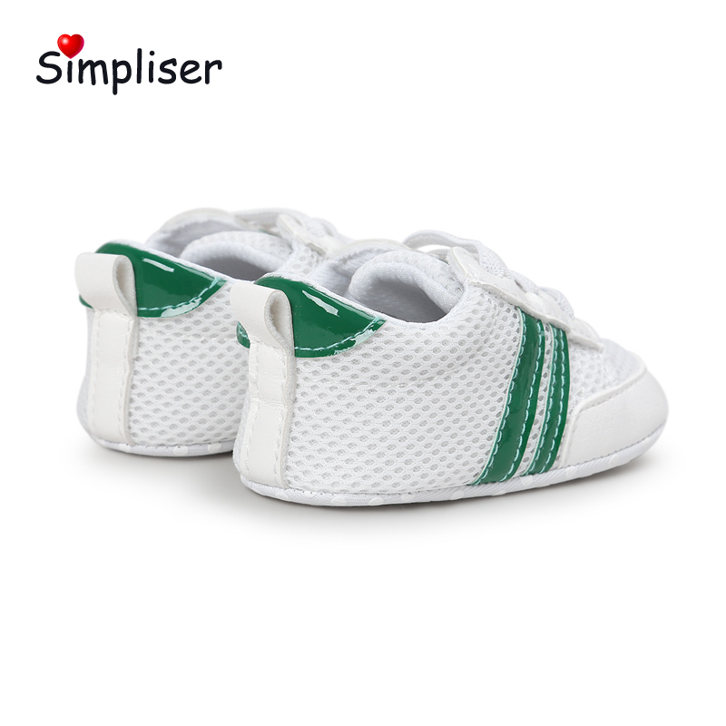 Newborn Baby Sneakers For Girls Boys 0-18 Moths Soft Sole Slip-on Toddler Shoes Breathable Infant Walking Shoes First Walkers