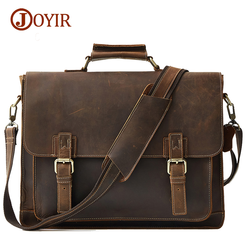 Joyir 2017 fashion famous brand business men briefcase bag genuine leather laptop bag casual man shoulder bags B515