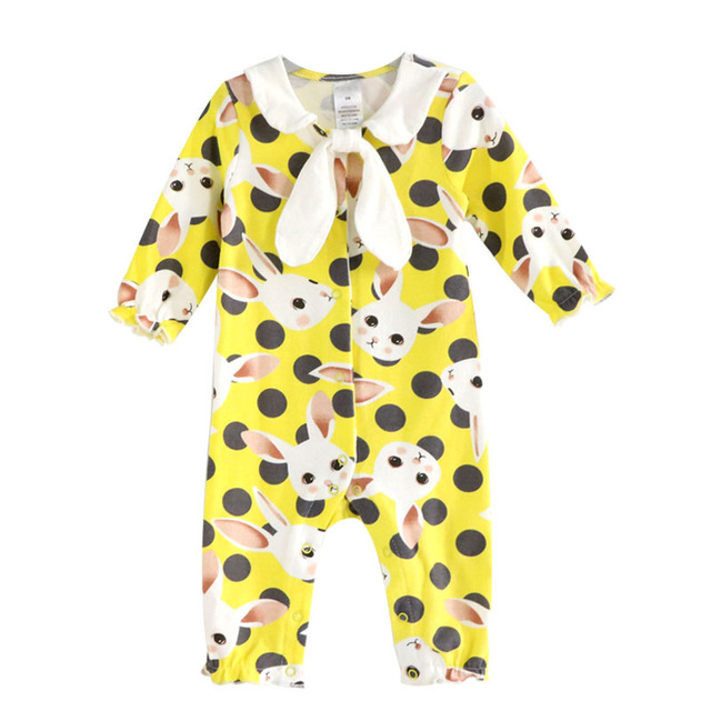 7570e958e Newborn Baby Clothes Cute Rabbit Cartoon Children Set 100% Cotton ...