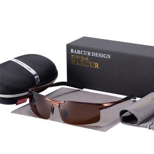 Image 5 - BARCUR Classic Design Aluminum Sunglasses Men Women Polarized Anti Reflective Sun glasses Male Oculos De Sol Shades