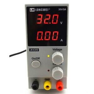 Image 2 - LW K305D 30V 5A Mini Verstelbare Digital DC Voeding Laboratorium Schakelende Voeding 110V 200V en DC jack set
