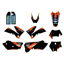 цена на 4 Styles Dirt Bike Graphic Background Decal Sticker for KTM EXC SXF SX XC XCW 125 250 450 200 300 400 525 540 Customize Stickers
