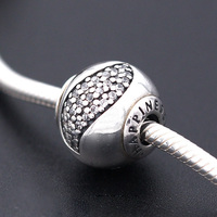 New Essence Small Beads Note HAPPINESS Charms Fit Bracelet 925 Silver Sterling Jewelry DIY Beads Making