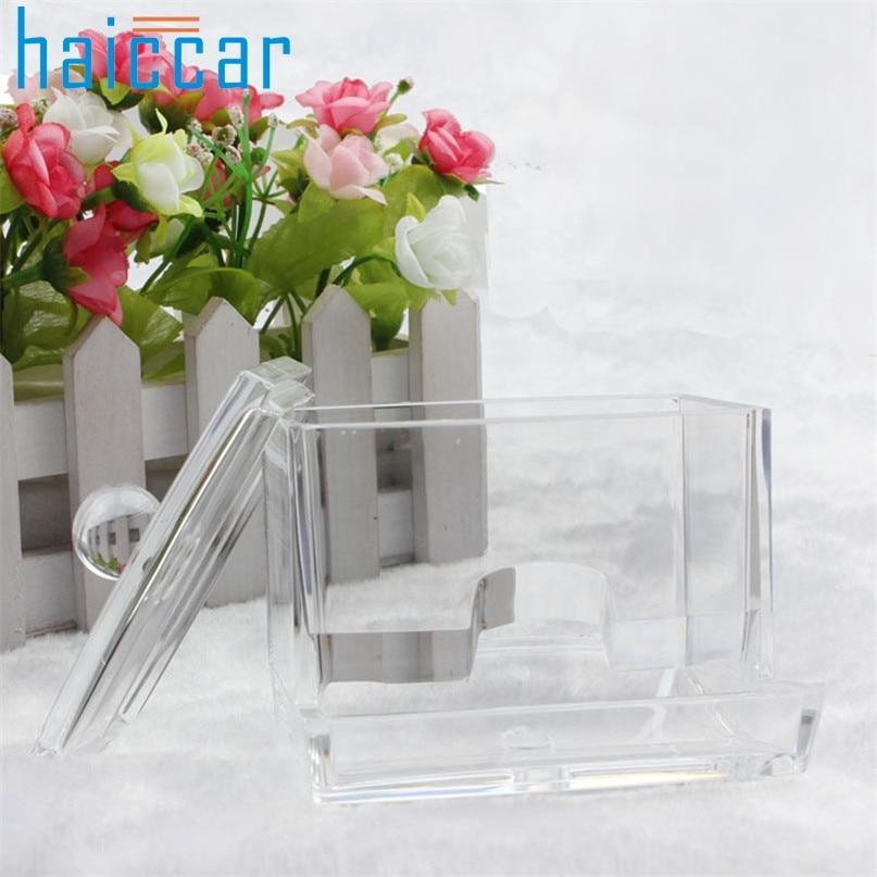 Organizer Home Wider New Design Q-tip Swab Acrylic Cotton Organizer Box Cosmetic Stick Holder Storage drop shipping ap26