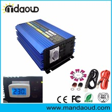 цена на 1500W/12VDC TO 220VAC PURE SINE WAVE POWER INVERTER/PEAKING 3000W for home applications /CABLES
