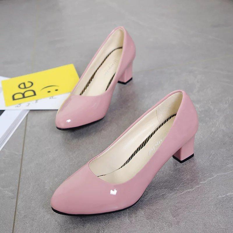 4260664c7 Redondas De Lwo Tacones Zapatillas 3 Zapatos 1 Bajas Altos Mujer 4 Gatito  Para Delgados Italianos Cuero Negros Tacón ...