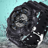 SANDA Luxury Brand Men S Sports Watch Men S LED Digital Military Watch Fashion Casual Men