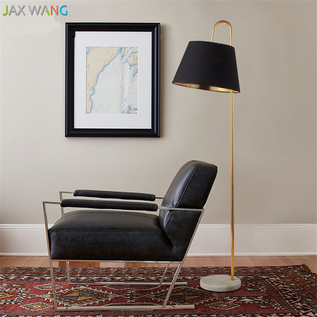 Nordic gold floor lamp fabric lampshades fishing lights remote nordic gold floor lamp fabric lampshades fishing lights remote control dimming standing lamp for living room aloadofball Image collections