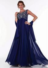 Preiswerte Reizvolle Eine Linie Flügelärmeln Chiffon und Perlen Abendkleid Mutter Der Braut Kleider Party Kleid