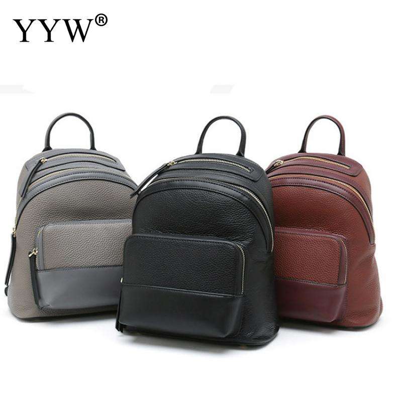 New Women High Quality Pu Leather Women Backpack Fashion Solid Girls School Bags For Teenager Girls Casual Women Black Backpacks