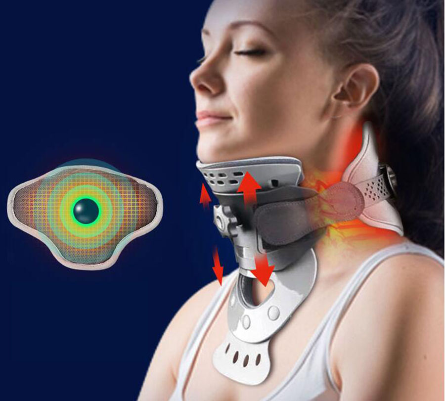 Cervical traction apparatus home stretch neck fomentation physiotherapy neck support fixed orthodontic neck guard J1925