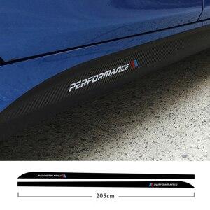 Image 2 - Falda lateral de fibra de carbono 5d, umbral, raya de automovilismo para Bmw F30 F31 F32 F33 F22 F23 F15 F85 F10 E60 E61 G30 E90 M, pegatina de rendimiento