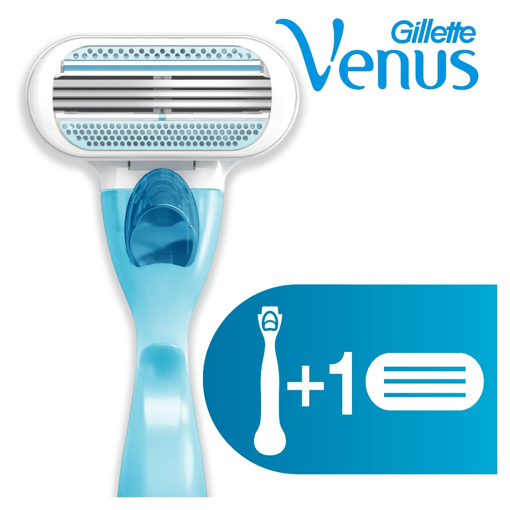 Razor Gillette Venus Shaver Razors Machine for shaving + 1 Razor Blades povos ps2203 washable electric single blade reciprocating shaver razor red