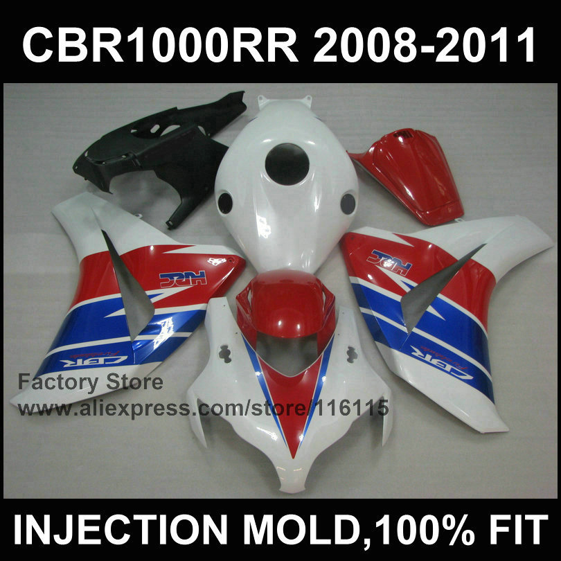 NEW ! Fairing sets for HONDA CBR1000RR 2008 2009 2010 2011 Injection mold fairing cbr1000 rr 08 09 10 11 12 red blue HRC bodykit arashi motorcycle radiator grille protective cover grill guard protector for 2008 2009 2010 2011 honda cbr1000rr cbr 1000 rr