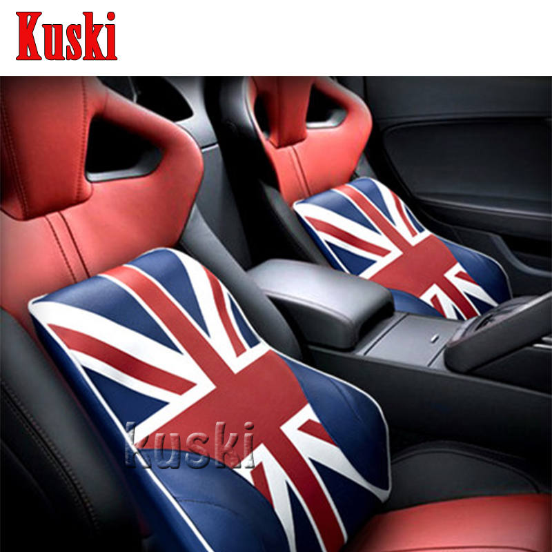 NEW 1pc Comfortable Car Waist Cushion For Honda Civic 2006-2011 Accord Fit CRV HRV City Cadillac CTS SRX ATS Jaguar XE XF XJ ouzhi for honda civic 2006 2011 accord crv red beige brand designer luxury pu leather front