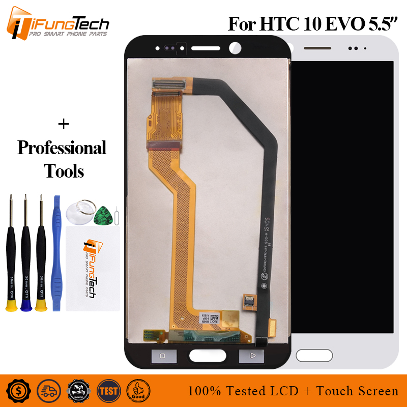For <font><b>HTC</b></font> <font><b>10</b></font> <font><b>EVO</b></font> LCD Display Touch <font><b>Screen</b></font> Digitizer Assembly 2560x1440 Mobile Phone Replacement Parts For <font><b>HTC</b></font> <font><b>evo</b></font> Display image