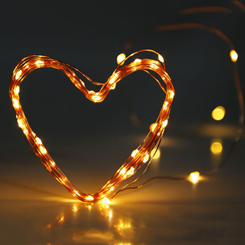 Micro Copper Wire Led Batteri Light String Fairy Light Garland Jul - Festlig belysning - Foto 3