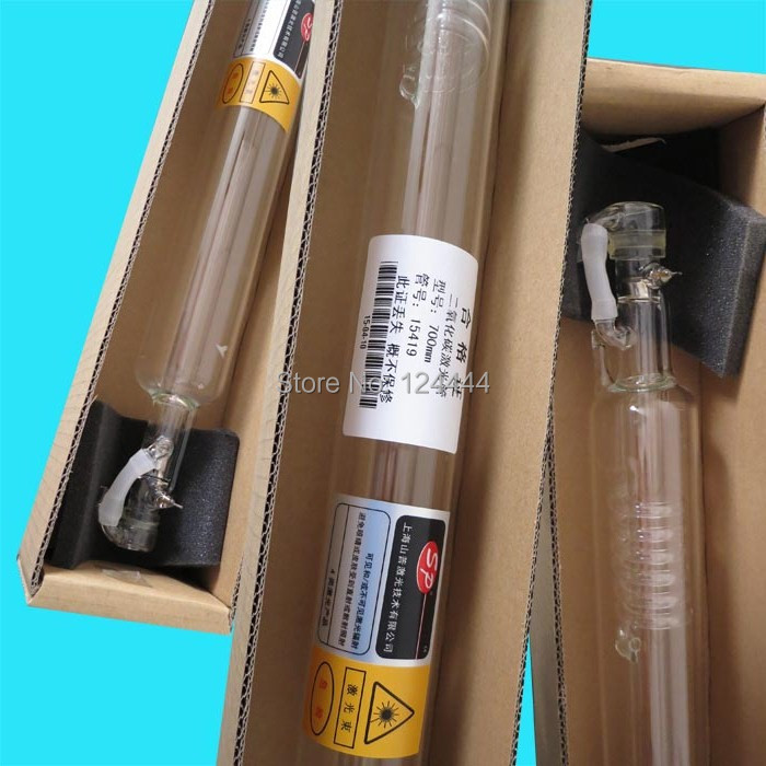high quality 40W Co2 laser tube 700mm length 50mm diameter for laser cutting/engraving machines 4030/4040 length 1000mm diameter 50mm 50 w co2 laser glass tube for co2 laser cutting engraving machine
