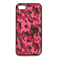 Army Camo Camoflage Red Pink Fashion Phone Cover Case For Iphone 4 4S 5 5S 5C