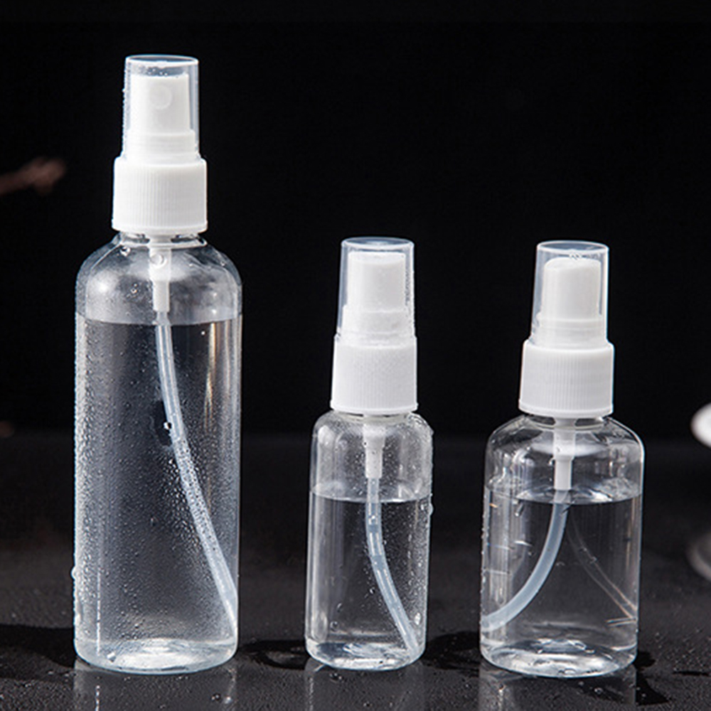 1 Pc 100/50/30ml Portable Refillable Essential Oil Atomizer Transparent Empty Plastic Spray Bottle Makeup Liquid Sprayer Bottles