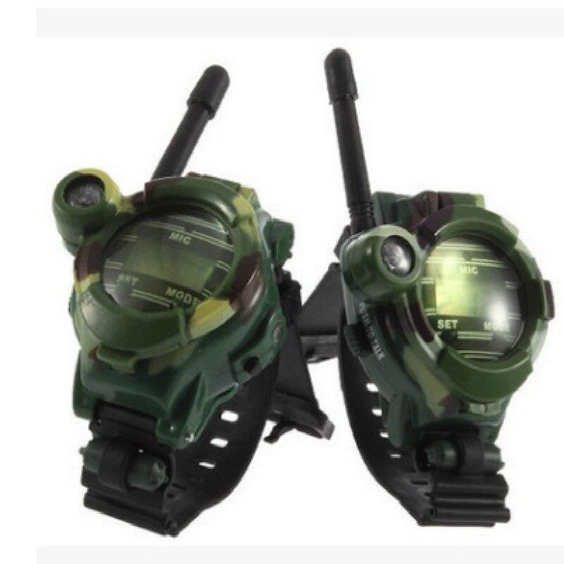 2pcs/pack Walkie Talkies Watches7 in 1 Children Watch Radio Outdoor Interphone Toy Gift