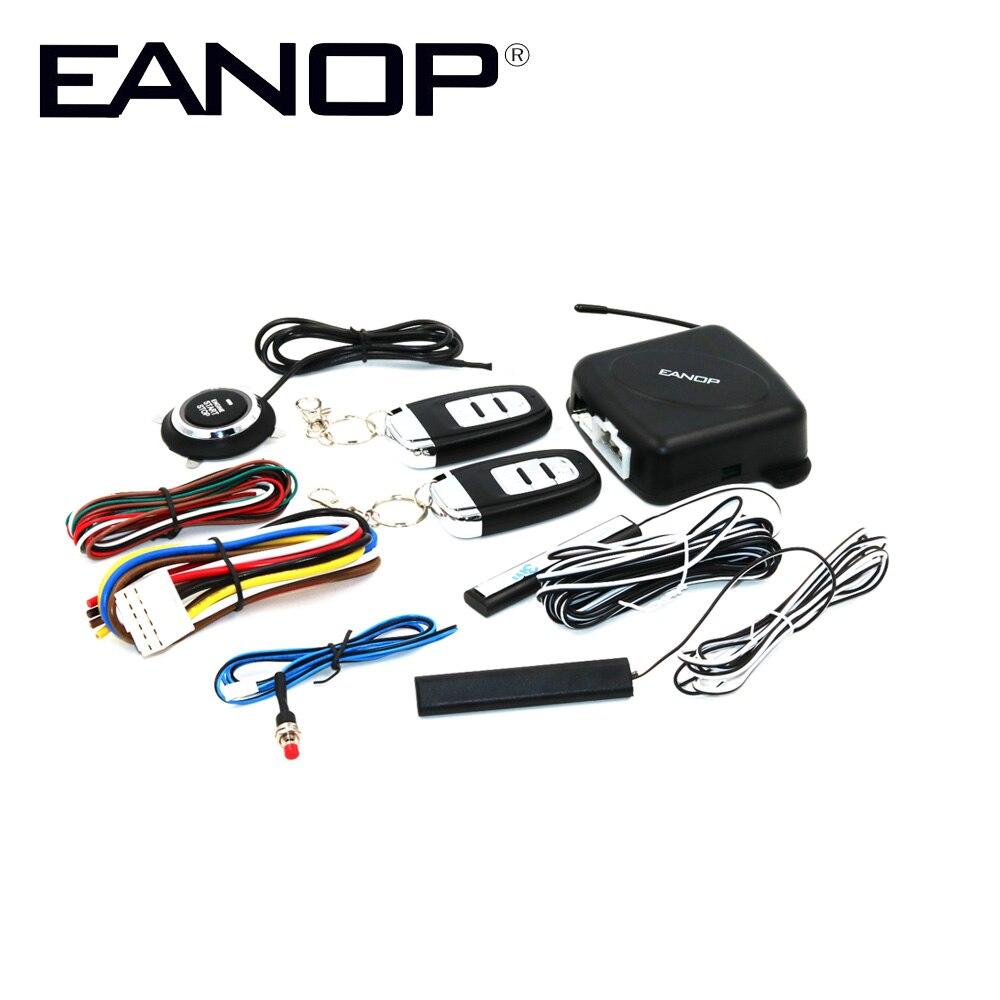 EANOP BA100 Voiture start stop Sécurité Alarma Système D'entrée Sans Clé Automatique Sans Fil clé de contrôle à distance bouton pour Voitures