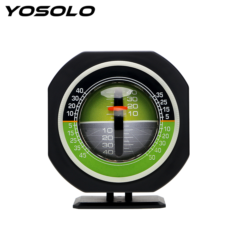 YOSOLO Car Compass High-precision Built-in LED Auto Slope Meter Level Car Vehicle Declinometer Gradient Inclinometer Angle