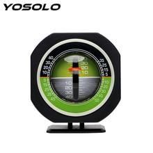 Yosolo carro bússola de alta precisão built in led medidor de inclinação automático nível carro veículo declinômetro inclinação inclinômetro ângulo