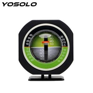 Image 1 - Yosolo車コンパス高精度内蔵ledオートスロープメーターレベル車の車両declinometer勾配傾斜計アングル