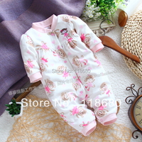 New 2013 Spring Autumn Baby Romper Baby Clothes Polar Fleece Baby Romper Newborn Baby Girl Long