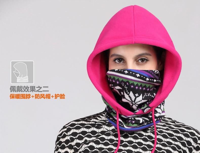 Versatile Polyester Fleece Beanies Outdoors Motorcycling Skullies Balaclavas Skiing Cycling Winter Hats Caps Face Mask Scarf New Men Women Thick Thermal Fleece (7)