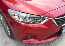 Brand New Car Styling Stickers ABS Plastic Head Light Eyelid Cover For Mazda6 Atenza 2014