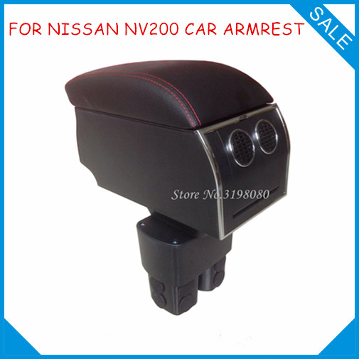 FOR NISSAN NV200 2010-ON 8pcs USB Armrest,All-IN-ONE Car center arm rest console box with hidden cup holder Car Accessories