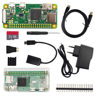 Raspberry Pi Zero W Starter Kit + Acrylic Case + 2A Power Supply + 16 GB SD Card + OTG Cable + Heat Sinks