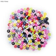 Цветные, 100 шт, смешанные, 2 отверстия, смола, милые, супер мини пуговицы, для шитья, круглый декор, для изготовления открыток, сделай сам, милые инструменты для домашнего декора, 6 мм
