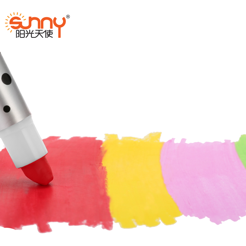 Sunny 16 colors Silky crayon chalks kids  crayons  art pen pastel  cheap Drawing painting for children