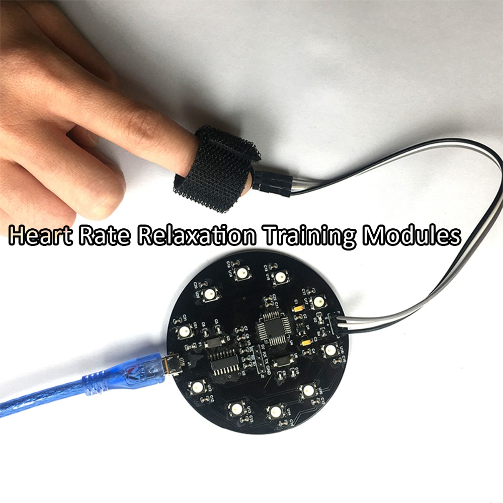 Heart Rate Sensor Relaxation Training Modules Meditation Trainer HRV Monitoring with Pulse Sensor for Arduino Development цена
