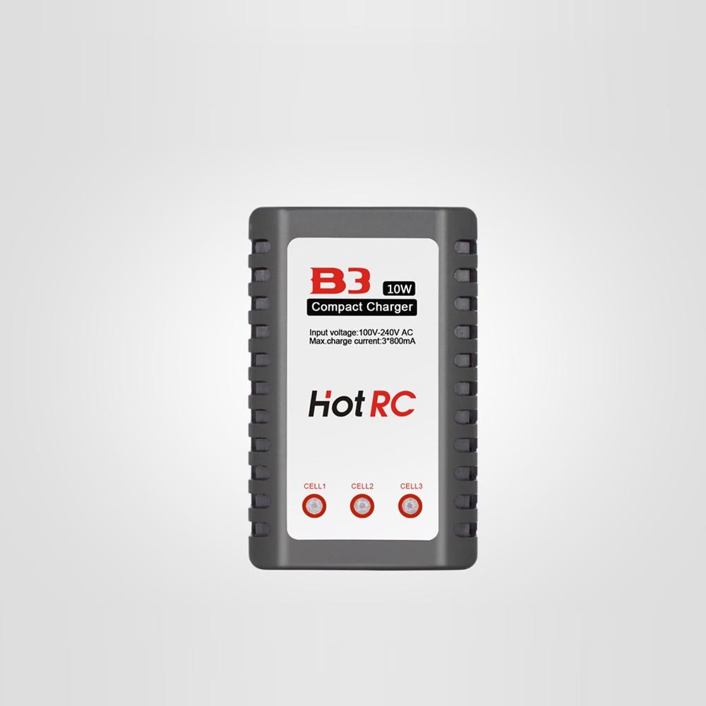 1pcs HotRC B3 LIPO Battery Charger 7.4v/11.1v Li-polymer Lipo Battery Charger 2s 3s Cells for RC LiPo EU&US