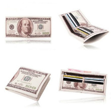 2016 new novel Money Clip men women pu leather paper US dollar euro boy girl Wallet slim mini purse student cheap gift coin bag