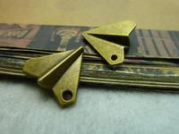 20Pcs Antique Bronze Paper Airplane Charm DIY Jewelry Making