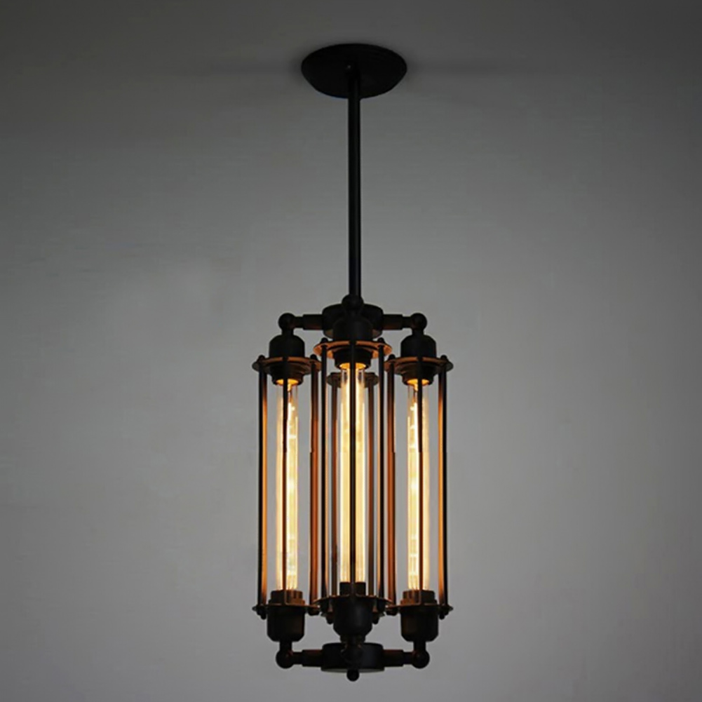 4 Heads Flute Lamp Retro Restaurant Pendant Lights American Country Style Edison Industrial Warehouse Loft Light Deco Lamps
