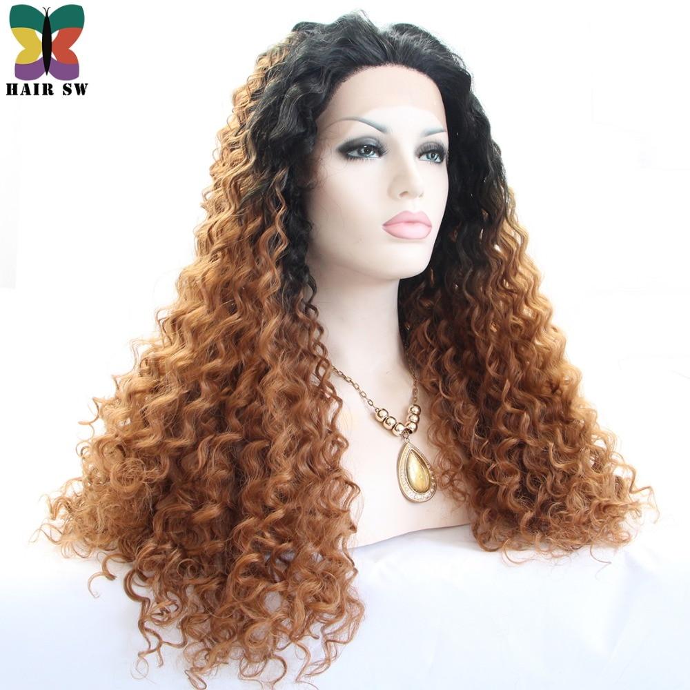 cheveux sw longue vague profonde avant de lacet perruque synthétique
