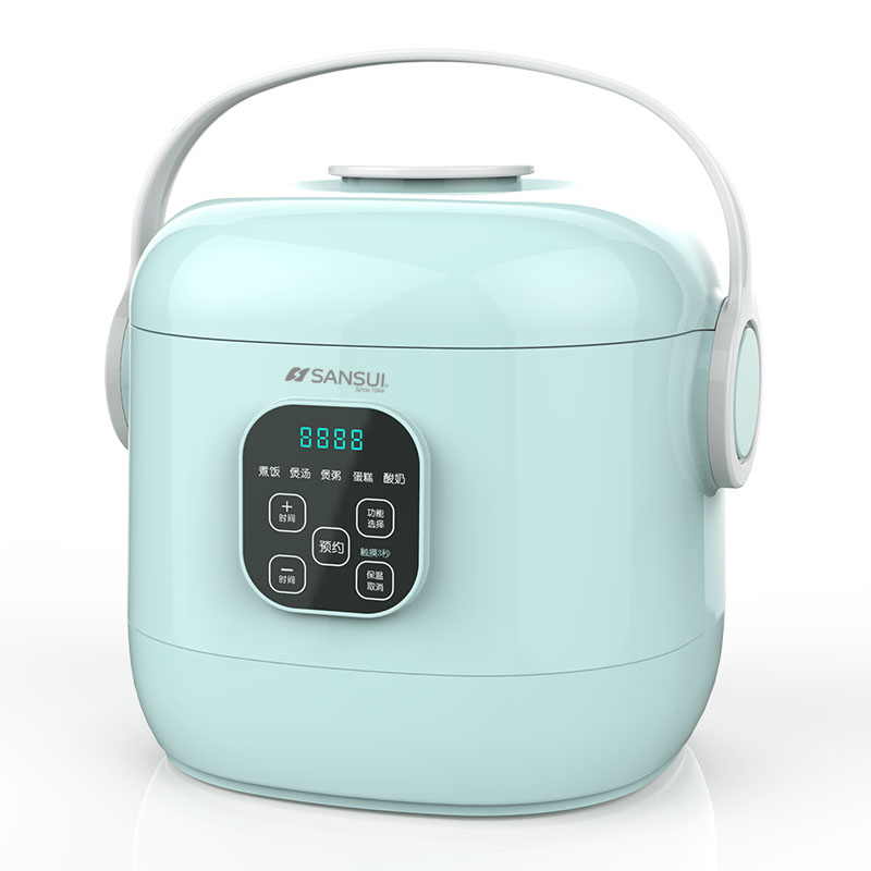 2L Rice Cooker Mini Small Home Cooking Appliances for Students Children Old People Cooking Rice Soup Porridge Soup Steamed Cake