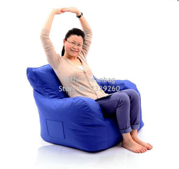 Charmant COVER ONLY , No Filler Big Joe Bean Bag Armchair, Original Beanbag Cushion  With Arm Rest. Waterproof With Handle Design In Living Room Sets From  Furniture ...